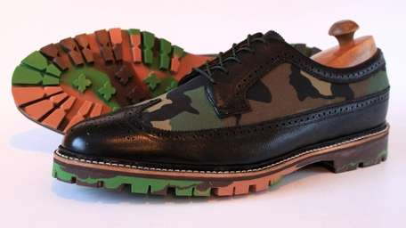 Greenwich Vintage Built-to-Order Wingtip Shoes with Colored Soles;