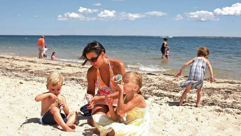 The Heidtman family from Southold enjoys spending their