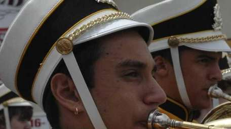 The Northport High School Marching Band performed in