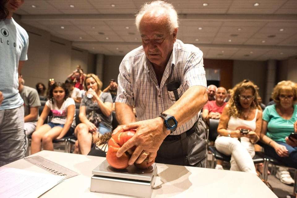 Anthony Maltese, winner of Newsday's annual tomato contest,