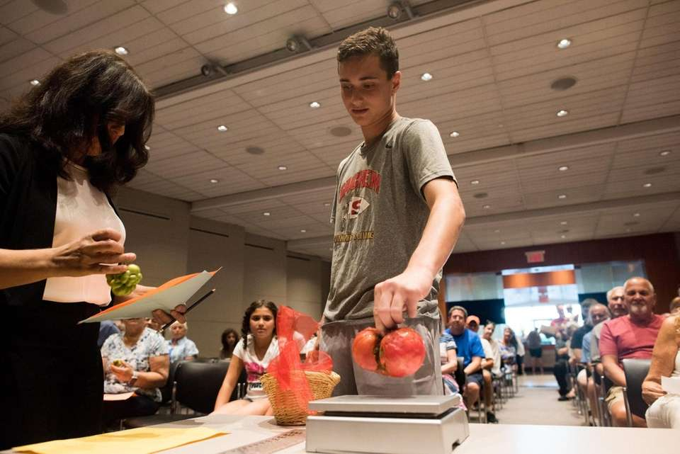 Bruce Marcus, of Merrick, during Newsday's annual tomato
