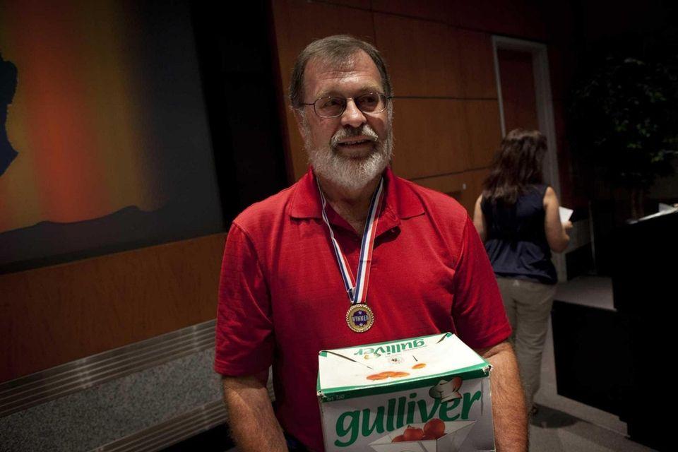 Gary Schaffer of Lindenhurst, a lifetime gardener, displays