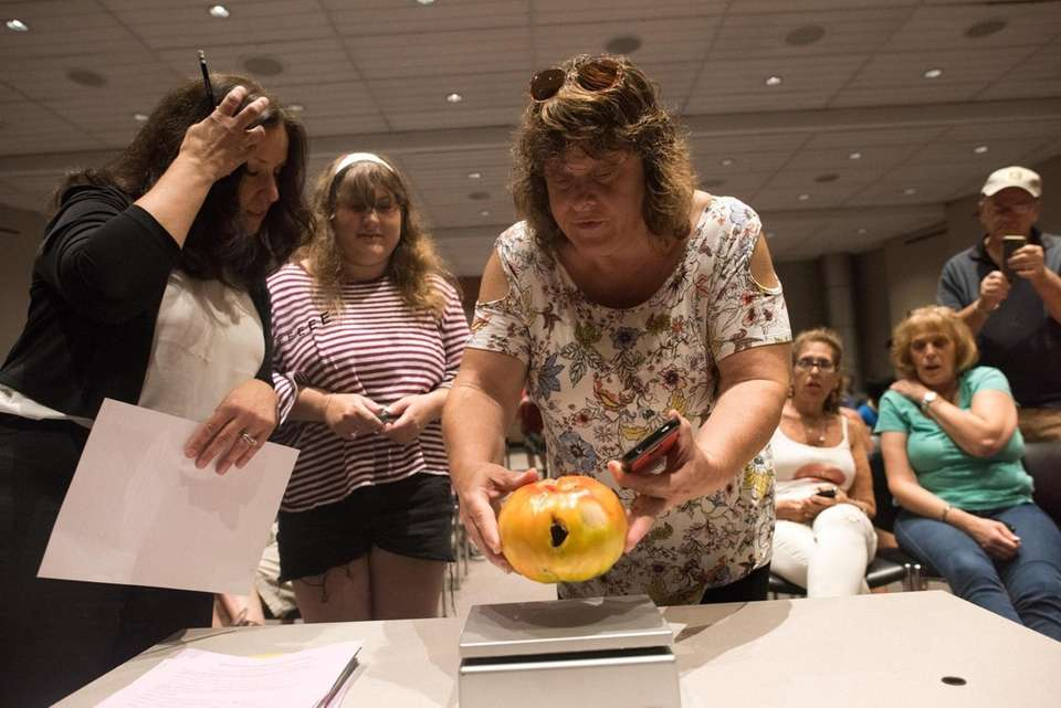 Christina Kraemer of Bohemia during Newsday's annual tomato