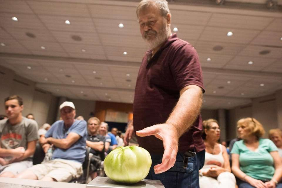 Gary Schoffe of Lindenhurst during Newsday's annual tomato