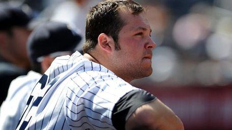 New York Yankees relief pitcher Joba Chamberlain #62