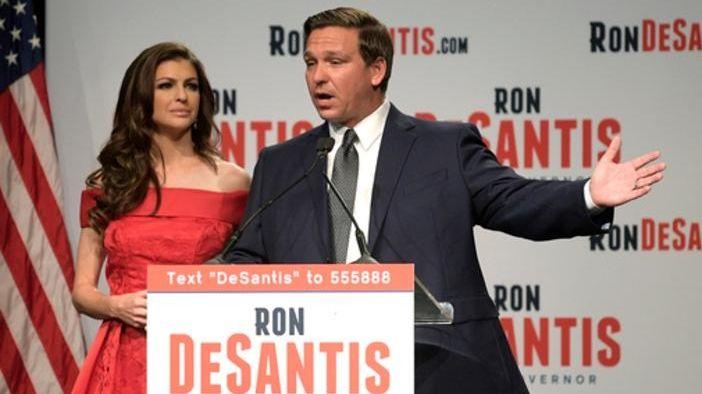 Florida Republican gubernatorial candidate Ron DeSantis and his