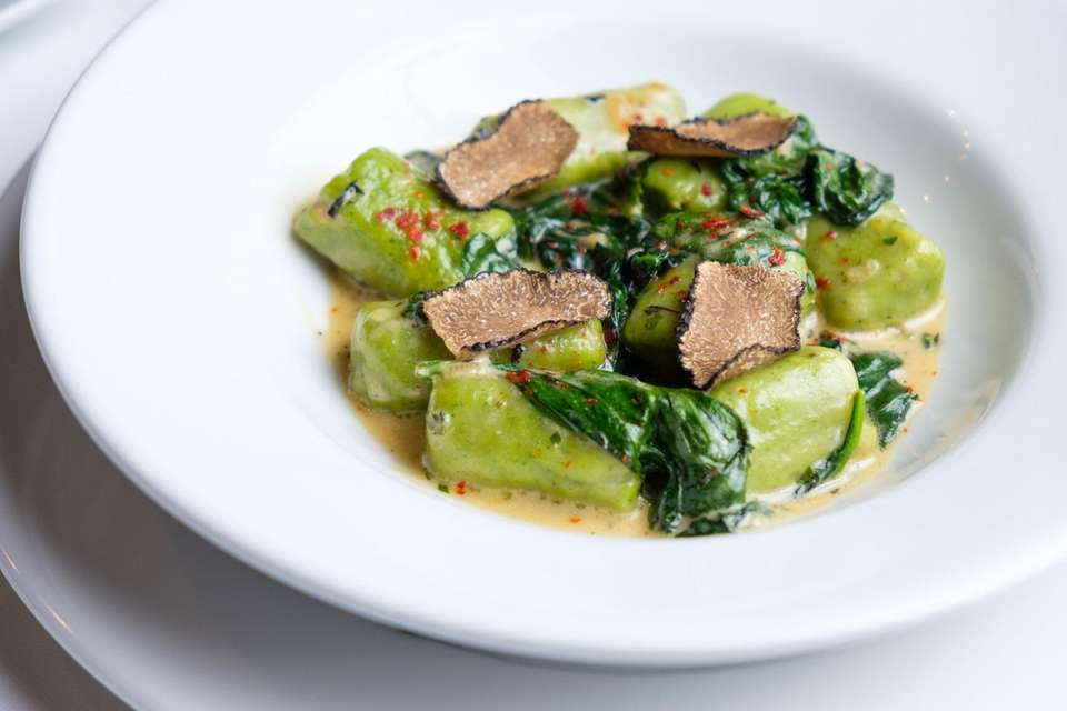 Spinach gnocchi at Emanuel's (1014 Fort Salonga Rd.,