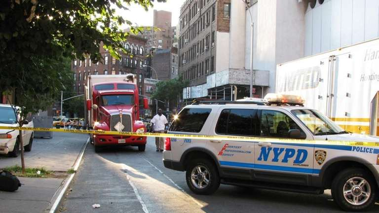 An NYPD car and a truck were used