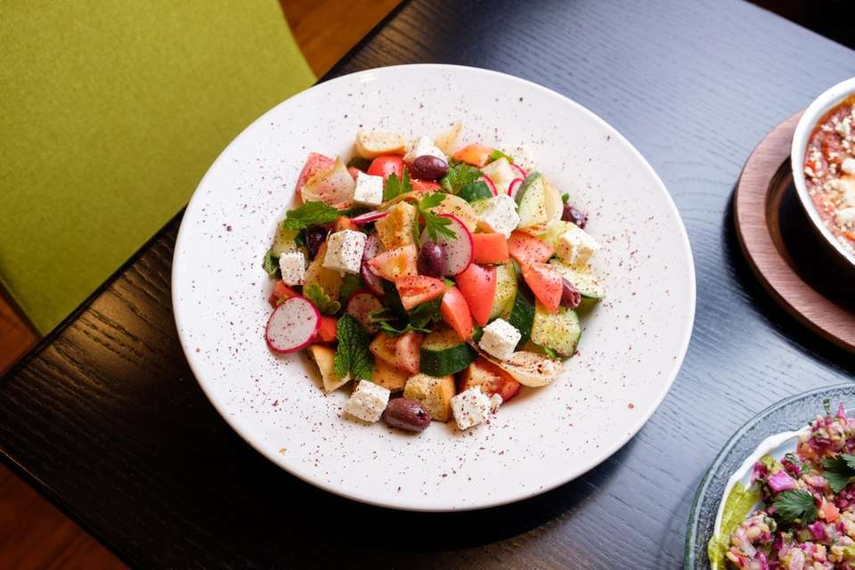The tasty fatush salad at Rothchilds Coffee &