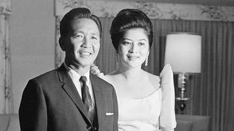 Ferdinand Marcos and his wife, Imelda, in Manila,