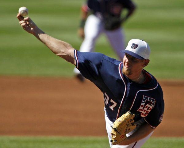 Washington Nationals starter Stephen Strasburg throws a pitch