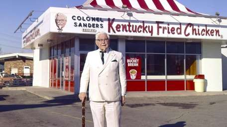 Kentucky Fried Chicken founder Colonel Harland Sanders