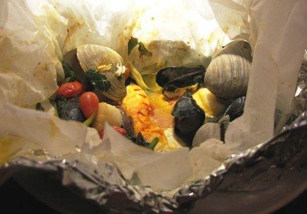 Halibut and shellfish