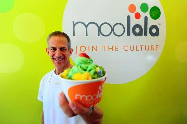 Bob Rosenberg, co-owner of Moolala, a self-service frozen