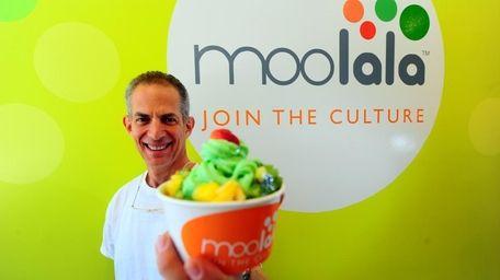 Bob Rosenberg, co-owner of Moolala, a self-service frozen