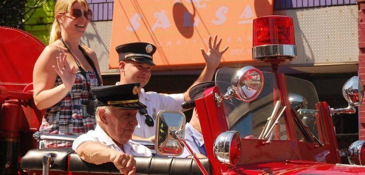 Terryville volunteer firefighter Craig Brozio, center, of Port