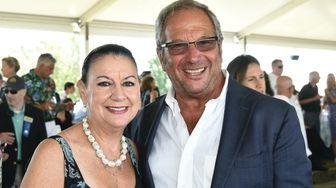 Linda and Neal Sroka attend the Hampton Classic