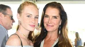 Grier Henchy and mom Brooke Shields attend the