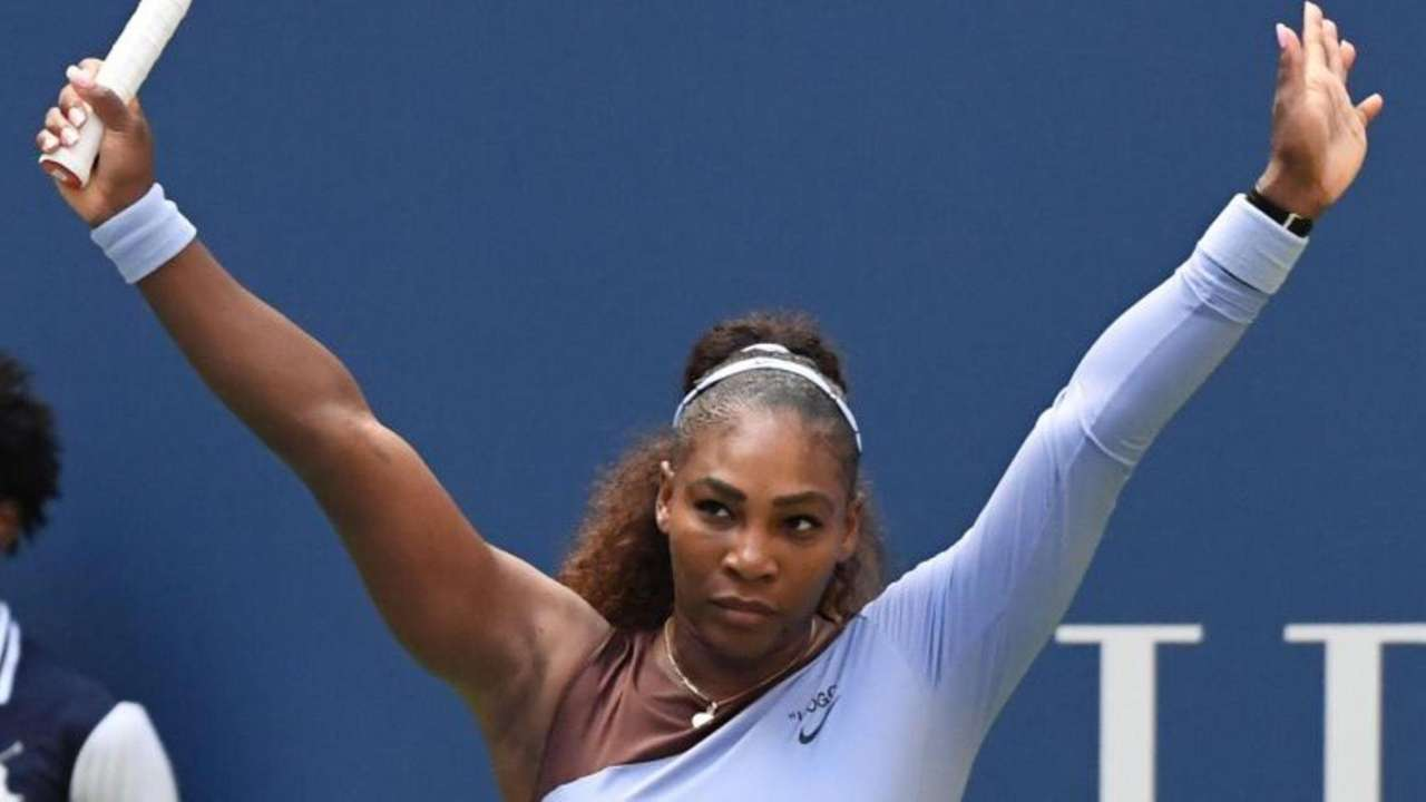 On Sunday, Serena Williams fell back on her