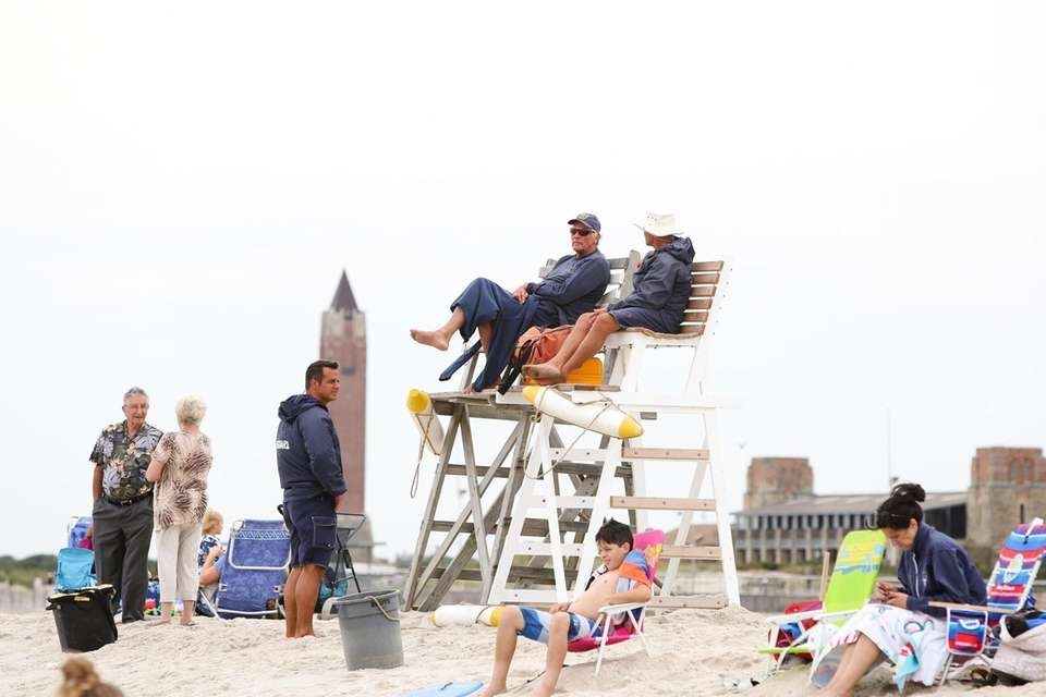 Lifeguards keep watch near Field 6 at Jones