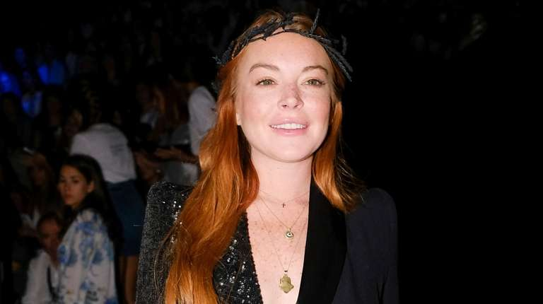 Lindsay Lohan attends the Malne show during Mercedes-Benz
