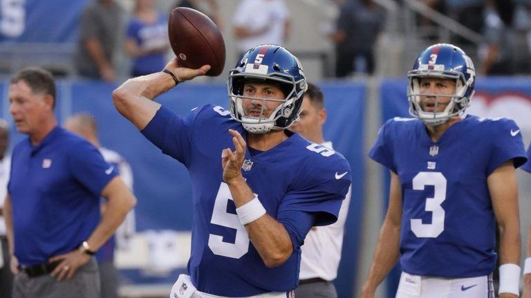 Davis Webb appeared to be Giants' backup quarterback