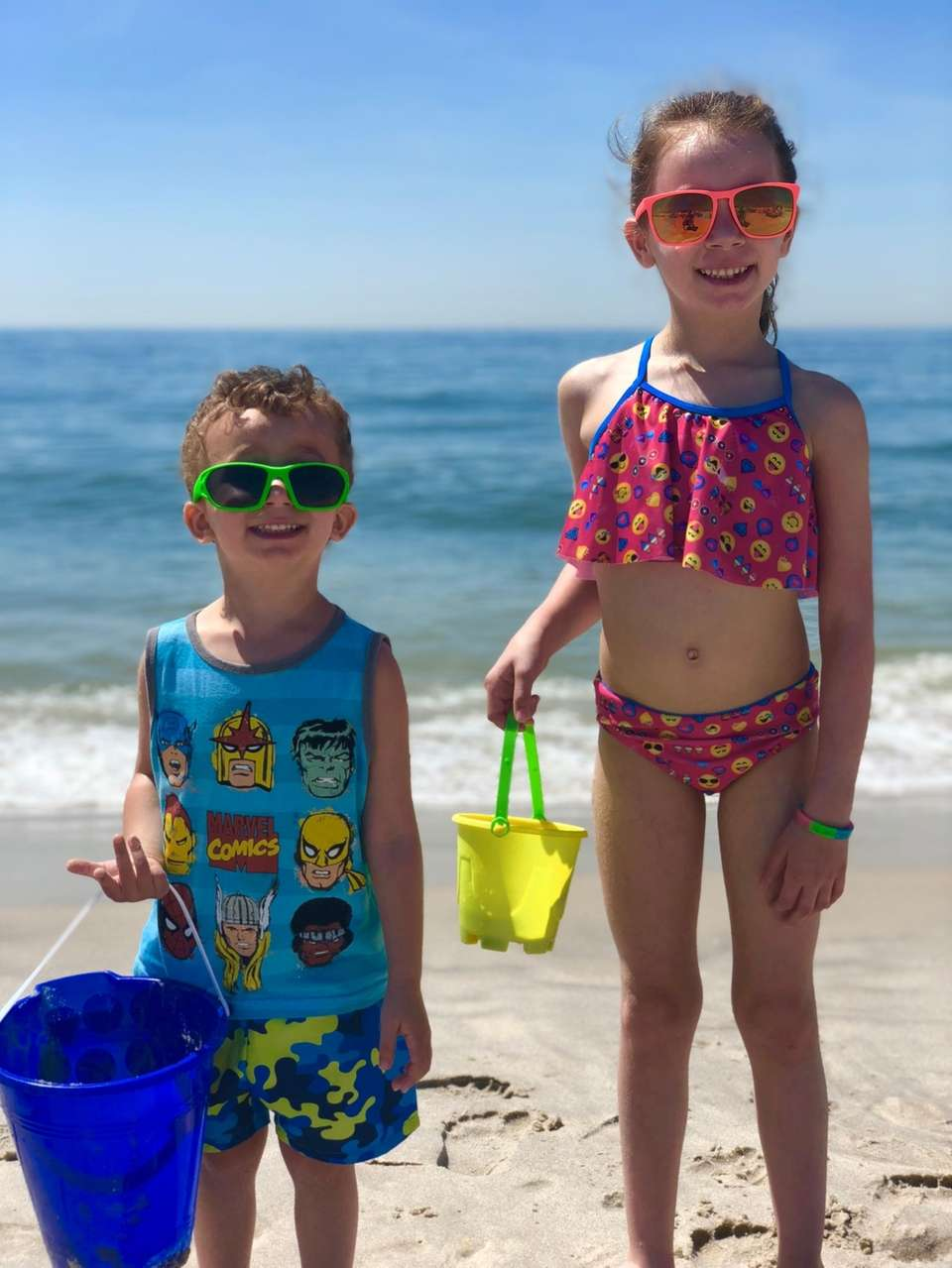 Hannah and Jacob Cohen, Tobay Beach, June 2018