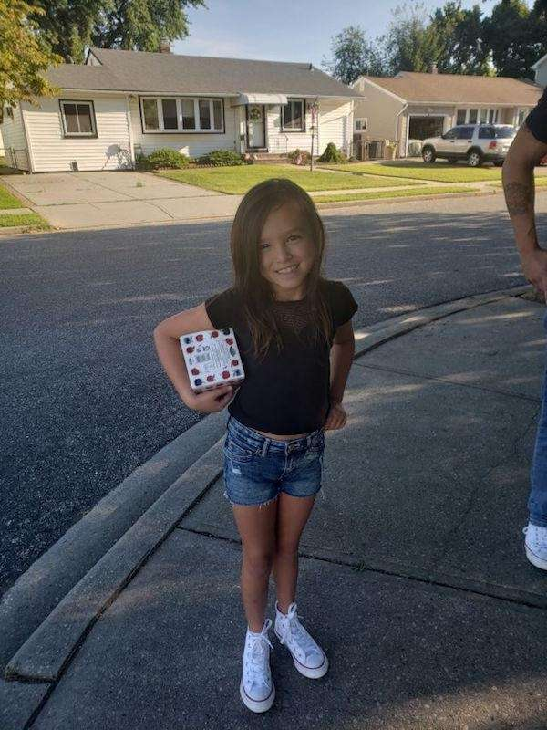 Samantha , first day of 4th grade ,