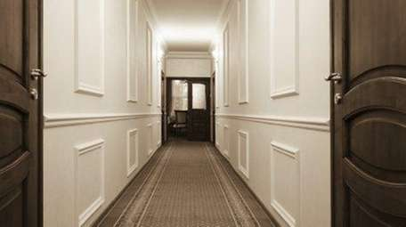 An office hallway.