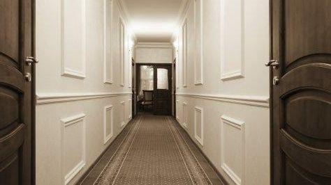 An office hallway.