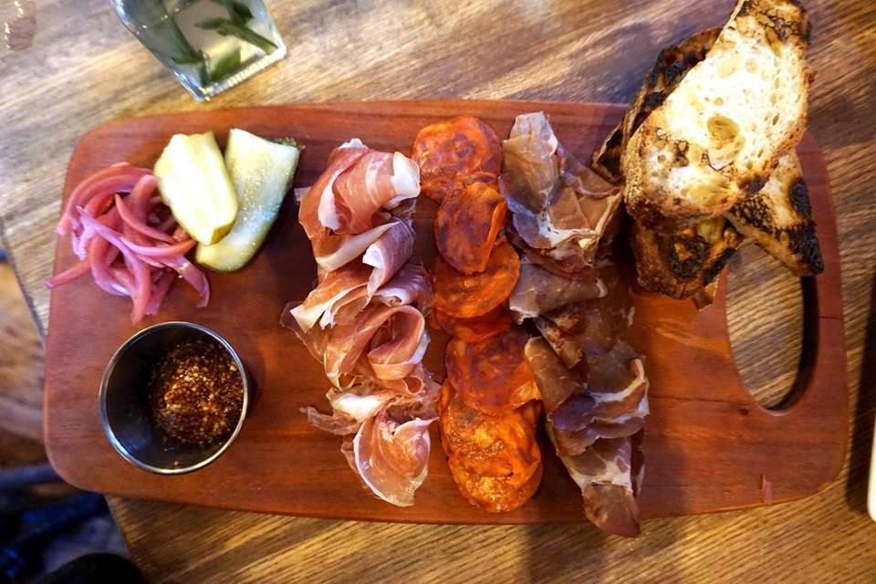 A board of charcuterie at Publicans, a gastropub