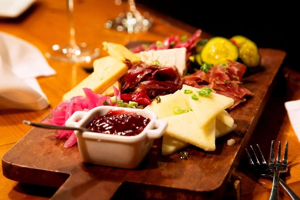 The charcuterie board at Tullulah's restaurant in Bay