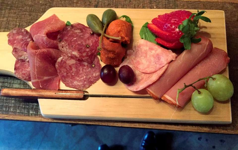 Spanish meat board with charcuterie at Viaggio Wine