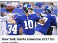 Follow Eli Manning and the New York Giants