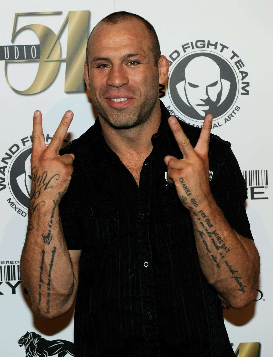 Mixed martial artist Wanderlei Silva arrives at his