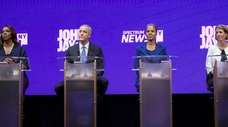 From left, Democratic attorney general contenders Letitia James,