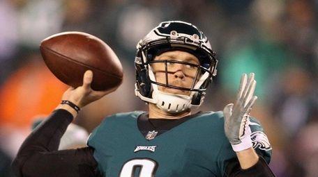 Nick Foles of the Philadelphia Eagles prior to