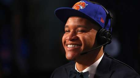 Kevin Knox speaks with media after being drafted