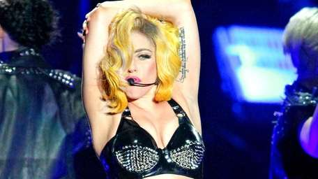 Lady Gaga performs at the Boardwalk Hall Arena