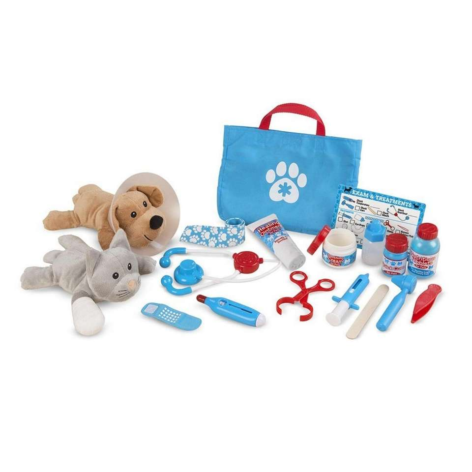 Become a veterinarian and take the included plush