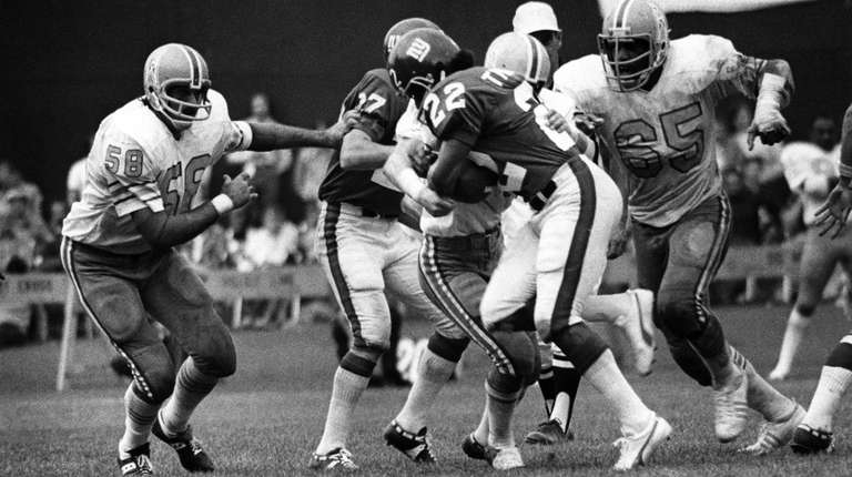 Houston Oilers defensive end Elvin Bethea (65) in