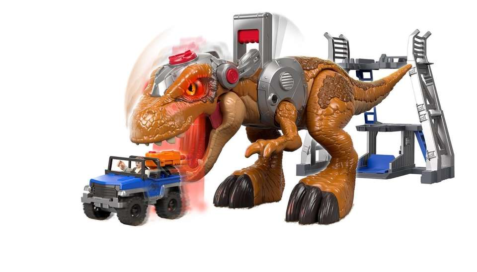 Kids can control the Jurassic Rex from Mattel