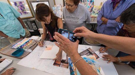 Jan Guarino, 63, teaches Fearless Watercolor, a class