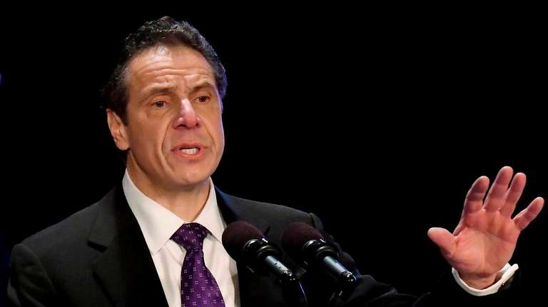 Gov. Andrew Cuomo speaks at the Empire State