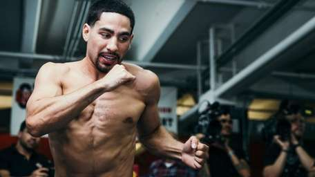 Danny Garcia works out at Gleason's Gym in