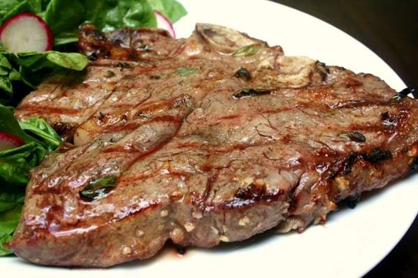 Marinated grilled porterhouse