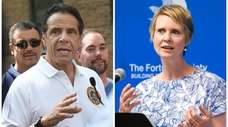 Gov. Andrew Cuomo and challenger Cynthia Nixon will