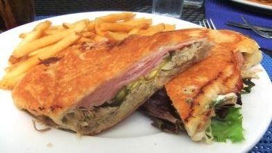 Cuban pulled-pork-and-ham panino at Nichols East Hampton