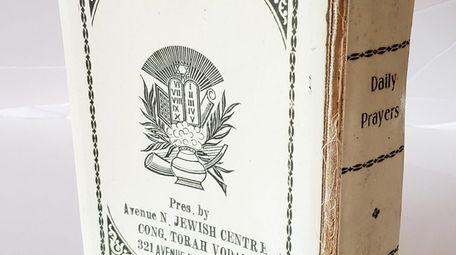 A siddur, (or prayer book) that once belonged
