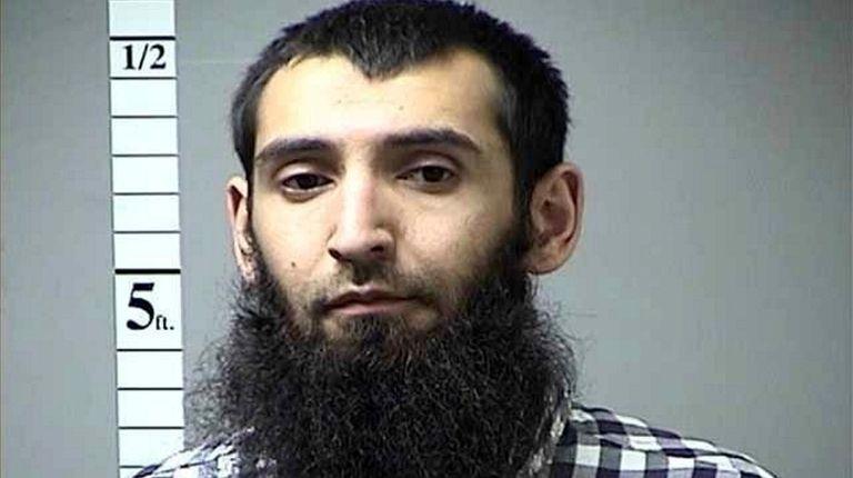 Manhattan terror suspect Sayfullo Saipov is seen in
